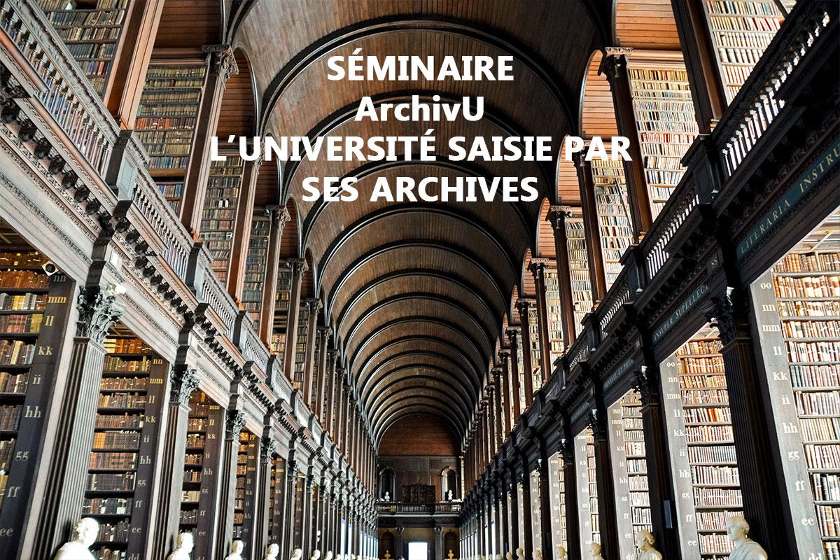 Visuel Séminaire ArchivU